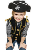 Grinning little girl pirate Royalty Free Stock Photography