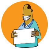 Grinning Man Stock Photography