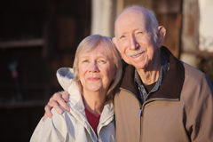 Grinning Older Partners Stock Photography