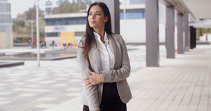 Grinning optimistic business woman Royalty Free Stock Photo