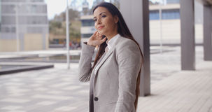 Grinning optimistic business woman Stock Images