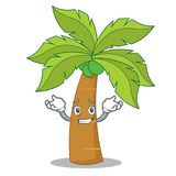 Grinning palm tree character cartoon Stock Image