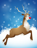 Grinning reindeer Royalty Free Stock Photos