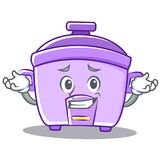 Grinning rice cooker character cartoon Royalty Free Stock Images