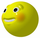 Grinning Smiley Ball Royalty Free Stock Photo