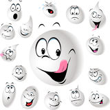 Grinning and smiling drop of milk - vector Royalty Free Stock Photos