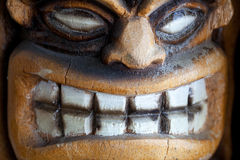 Grinning tiki Stock Photo