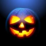Grinsen des Halloween-Kürbises Stockfoto
