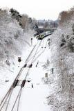 GRINSTEAD DEL ESTE, SUSSEX/UK DEL OESTE - 19 DE DICIEMBRE: Tren en Gri del este Foto de archivo libre de regalías