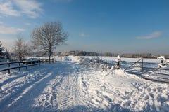 GRINSTEAD DEL ESTE, SUSSEX/UK DEL OESTE - 7 DE ENERO: Escena del invierno en Eas Fotos de archivo libres de regalías