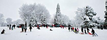 GRINSTEAD DEL ESTE, SUSSEX/UK DEL OESTE - 6 DE ENERO: Escena del invierno en Eas Fotografía de archivo
