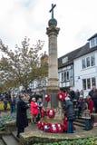 GRINSTEAD DO LESTE SUSSEX/UK OCIDENTAL - 13 DE NOVEMBRO: Cerimonia comemorativa o fotos de stock