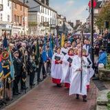 GRINSTEAD DO LESTE SUSSEX/UK OCIDENTAL - 13 DE NOVEMBRO: Cerimonia comemorativa o imagem de stock