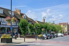 GRINSTEAD EST, SUSSEX/UK OCCIDENTAL - 14 AOÛT : Vue du haut St Photos libres de droits