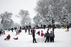 GRINSTEAD EST, SUSSEX/UK OCCIDENTAL - 6 JANVIER : Scène d'hiver dans Eas Photos libres de droits