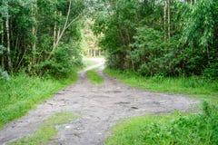 grintweg in de zomerplatteland Stock Afbeeldingen