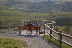 Grinzane Cavour, Piedmont, Italien Arkivbild