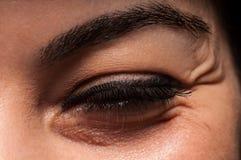 Grinze dell'occhio Immagine Stock