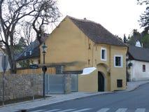Grinzing处所在维也纳 免版税库存照片