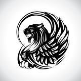 Grip för heraldik eller tatueringen, vektordesign royaltyfri illustrationer