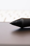 Grip Pen On Graphic Tablet Royalty Free Stock Photography