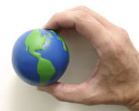 Grip two. Grip of earth Royalty Free Stock Photo
