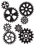 Gripa in i varandra kugghjul och kuggedesign vektor illustrationer