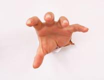 gripande hand Fotografering för Bildbyråer
