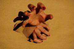 Gripande hand Arkivbild