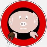 Gripe 6 de los cerdos imagenes de archivo