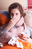 A gripe Foto de Stock