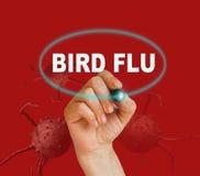 Gripe aviar stock de ilustración