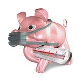 Gripe da carne de porco ilustração do vetor