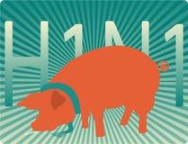 Gripe de los cerdos stock de ilustración