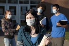 Gripe de los cerdos en la escuela Fotos de archivo libres de regalías
