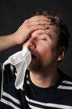 Gripe del frío de las alergias fotografía de archivo