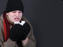 Gripe del invierno Foto de archivo libre de regalías