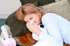 Gripe do frio das alergias Fotos de Stock Royalty Free