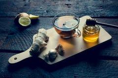 Gripe y medicina para el resfriado naturales Imagenes de archivo