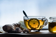 Gripe y medicina para el resfriado naturales Fotos de archivo
