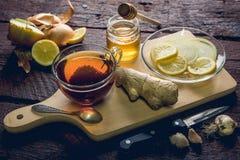 Gripe y medicina para el resfriado naturales Foto de archivo