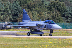 Gripen喷气式歼击机 免版税图库摄影
