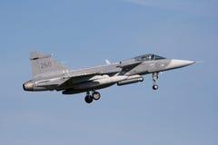 gripen saab jetfighter стоковое изображение