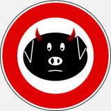Grippe 5 de porcs images libres de droits