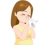 Grippe de femme enceinte illustration libre de droits