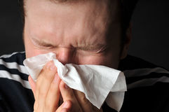 grippe de froid d'allergies Photo libre de droits