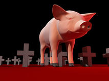 Grippe de porcs Images libres de droits