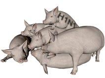 Grippe de porcs. illustration libre de droits