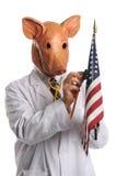 Grippe de porcs dans le concept de l'Amérique photos stock