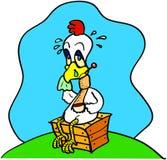 Grippe de poulet Photo libre de droits